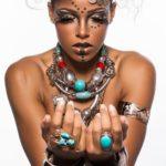 maquillage ethnique artistique peau noire
